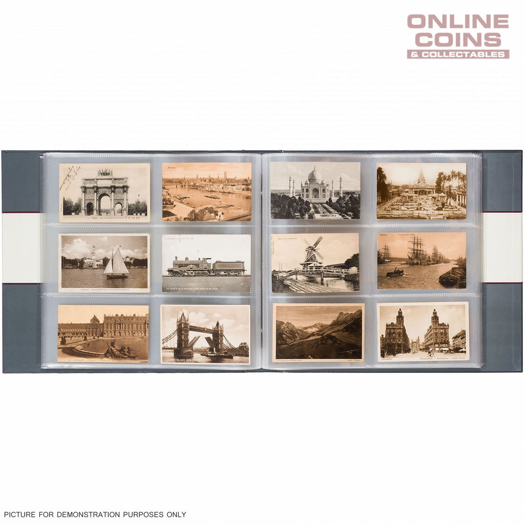 Lighthouse LARGE POSTCARD ALBUM FOR 600 HISTORICAL POSTCARDS