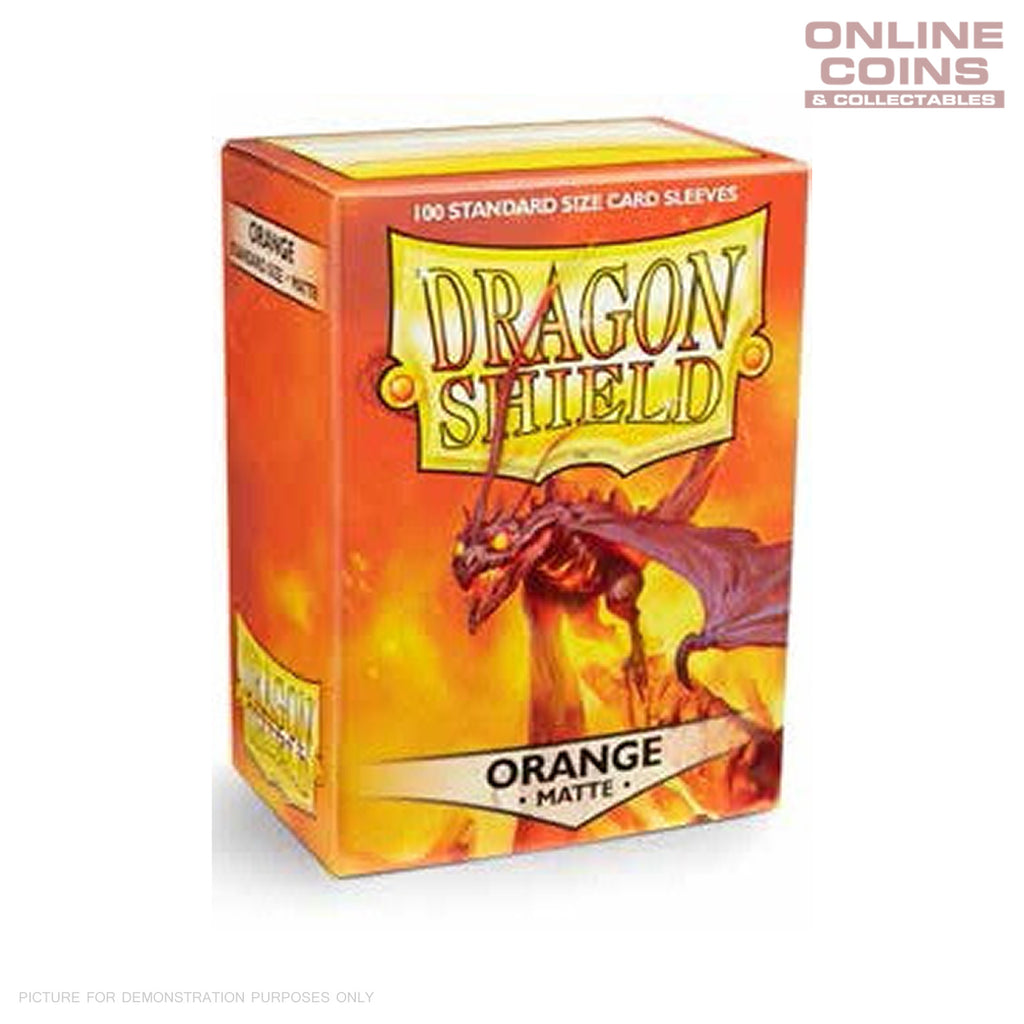 DRAGON SHIELD - MATTE Standard Card Sleeves ORANGE Pack of 100 #AT-11013
