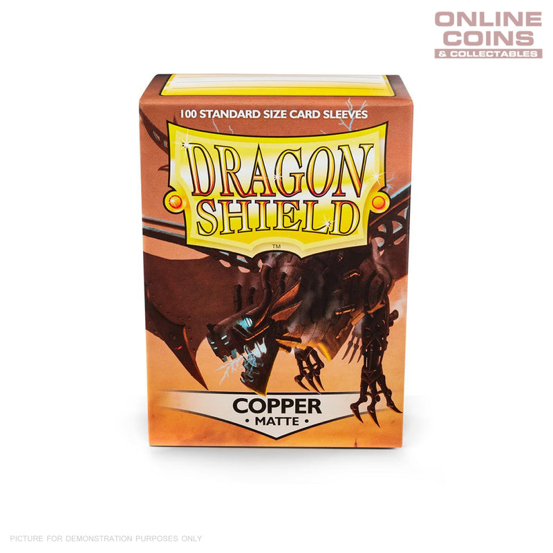 DRAGON SHIELD - MATTE Standard Card Sleeves COPPER Pack of 100 #AT-11016
