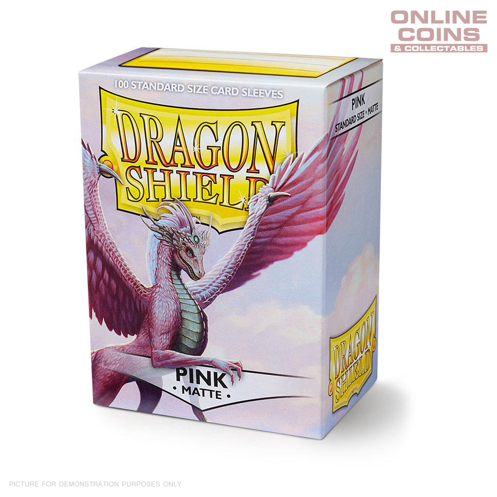 DRAGON SHIELD - MATTE Standard Card Sleeves PINK Pack of 100 #AT-11012