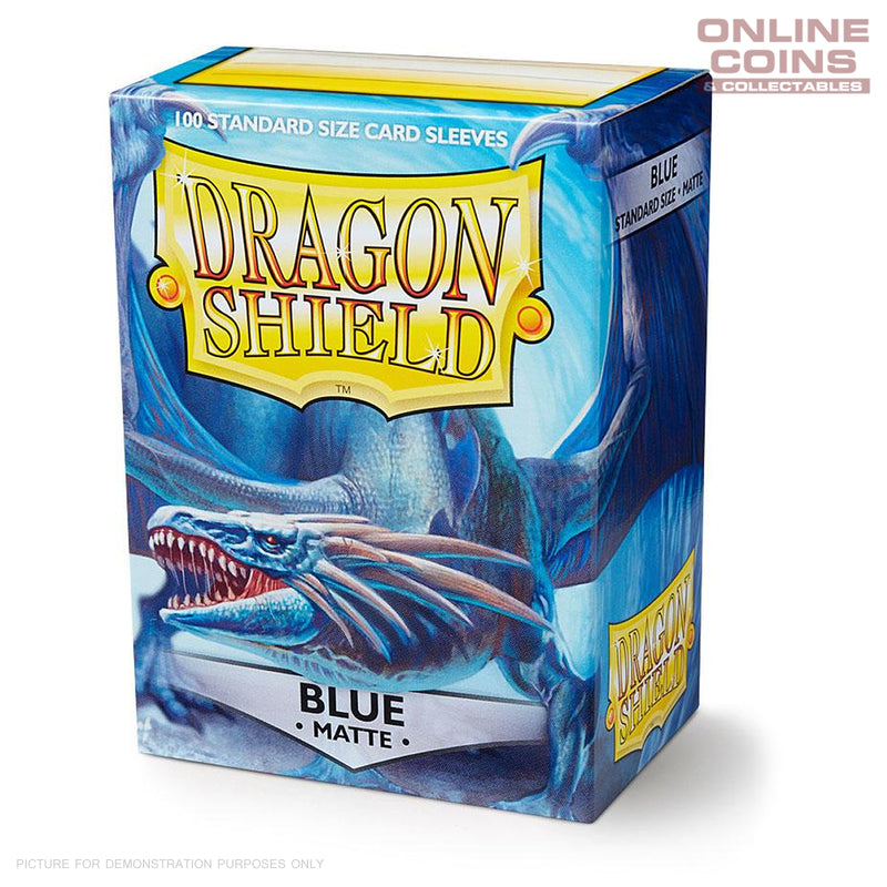 DRAGON SHIELD - MATTE Standard Card Sleeves BLUE Pack of 100 #AT-11003