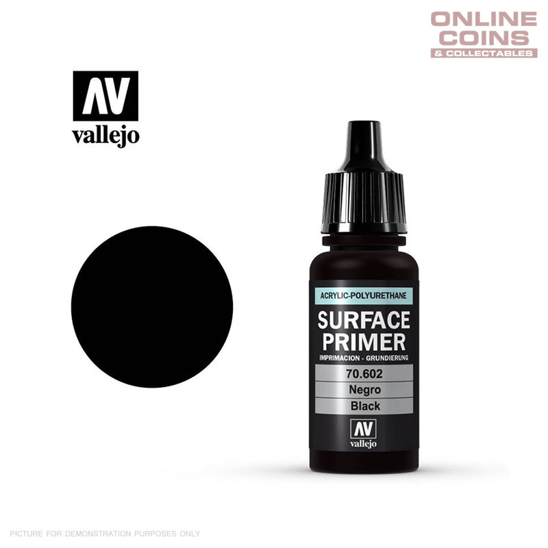 Vallejo 70.602 Surface Primer - BLACK 17ml Bottle