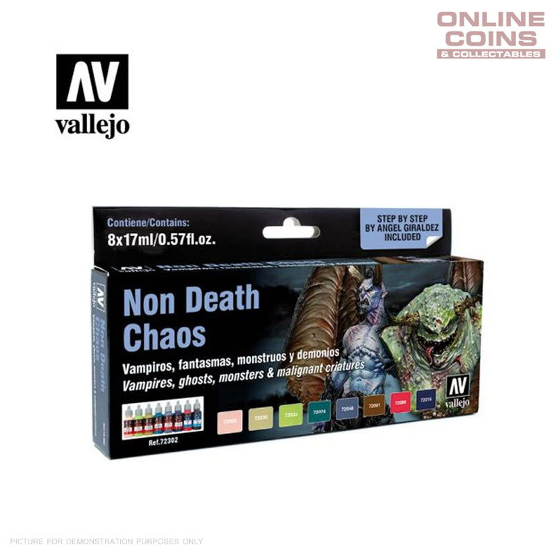 Vallejo AV72302 Game Colour Non death Chaos (by Angel Giraldez) 8 Colour Set