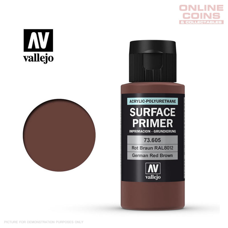 Vallejo 73.605 Surface Primer - GERMAN RED BROWN 60ml Bottle