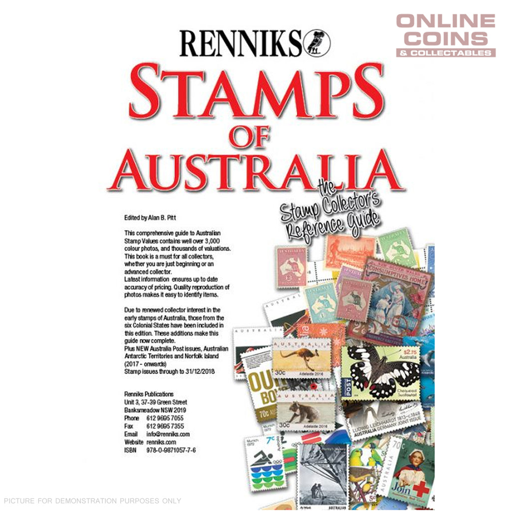 Renniks Stamps of Australia - 16th Edition Soft Cover Book - NEW EDITION