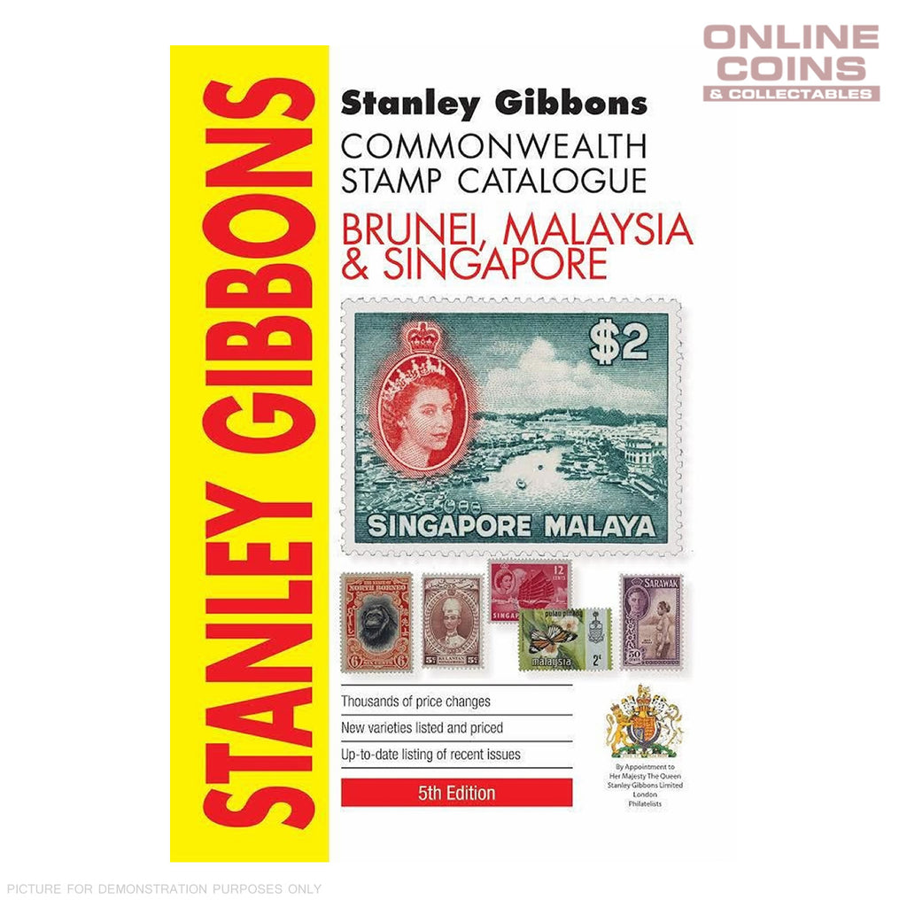 2017 Stanley Gibbons - Brunei, Malaysia & Singapore Stamp Catalogue 5th Edition