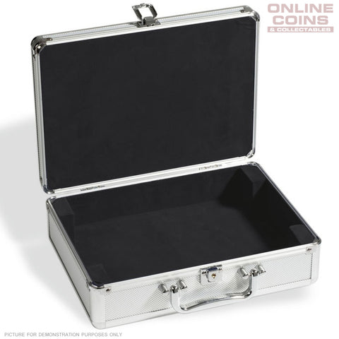 Lighthouse Aluminium CARGO S6 Coin Case for 112 coins Empty (KOSLEER)Black Lined