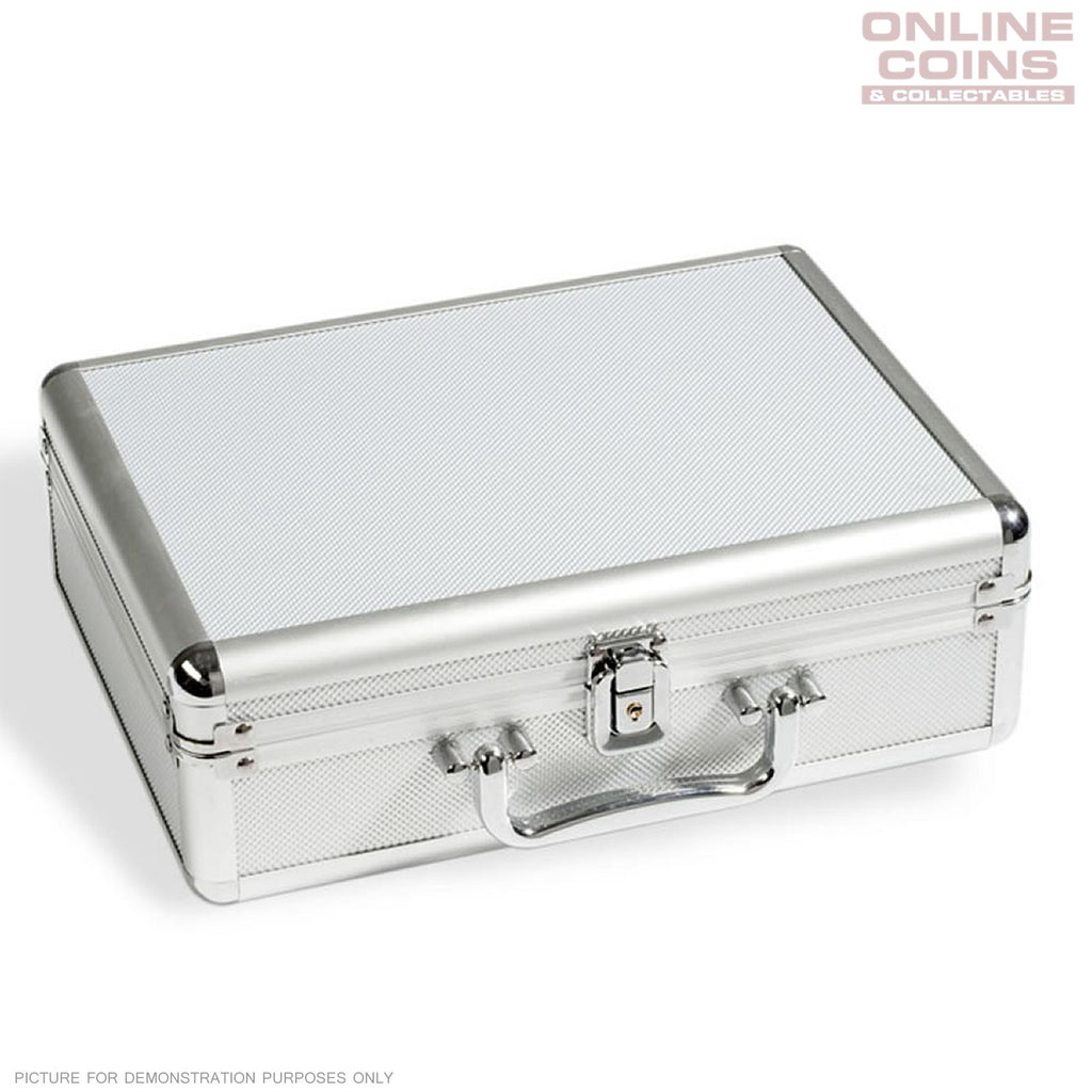Lighthouse - Aluminium CARGO S6 (KOS) Coin Case for 112 Coins Including 6 Trays