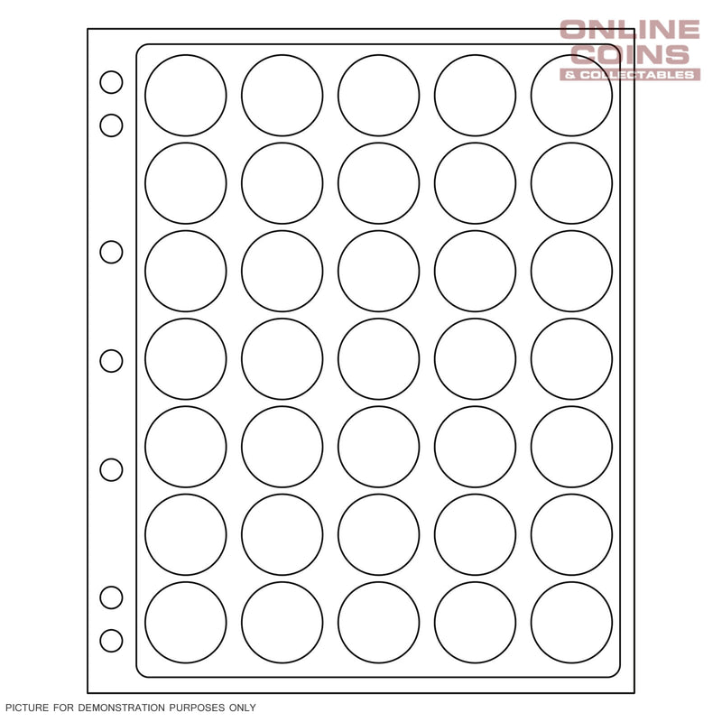 Lighthouse ENCAP 26/27 Clear Pages for 35 Round Coin Capsules - Perfect for $1