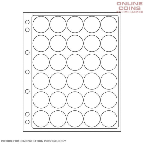 Lighthouse - ENCAP 30/31 Clear Pages for 30 Round Coin Capsules - Packet of 2