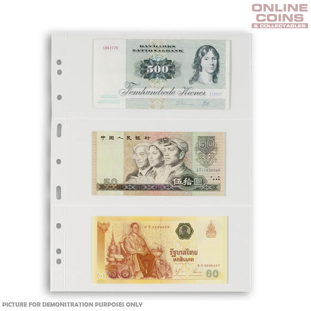 Lighthouse - Grande 3C Clear Album Pages For Banknotes and Stamps - Packet of 5
