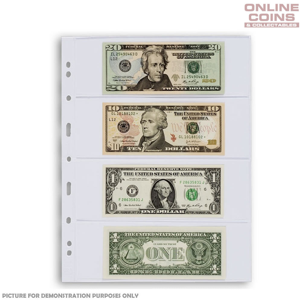 Lighthouse - Grande 4C Clear Album Pages For Banknotes and Stamps - Packet of 5