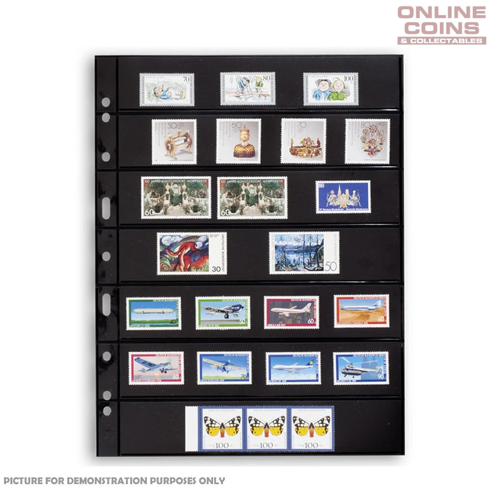 Lighthouse - Grande 7S Black Album Pages For Stamps - Packet of 5