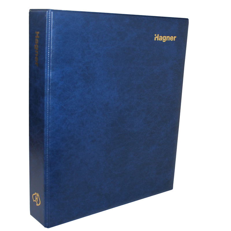 Hagner Binder - Armada (BLUE) For Banknotes and Stamps Suiting Hagner Sheets