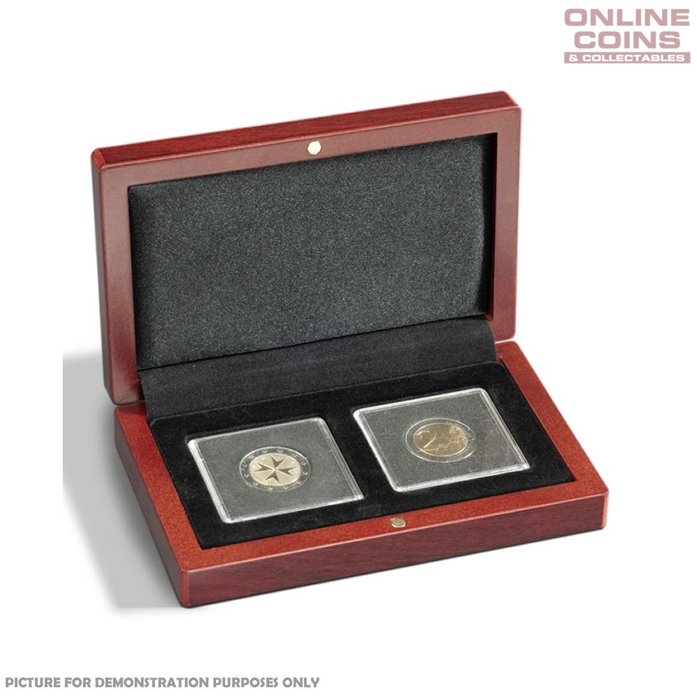 Lighthouse Volterra Timber Coin Presentation Case for Two Quadrums