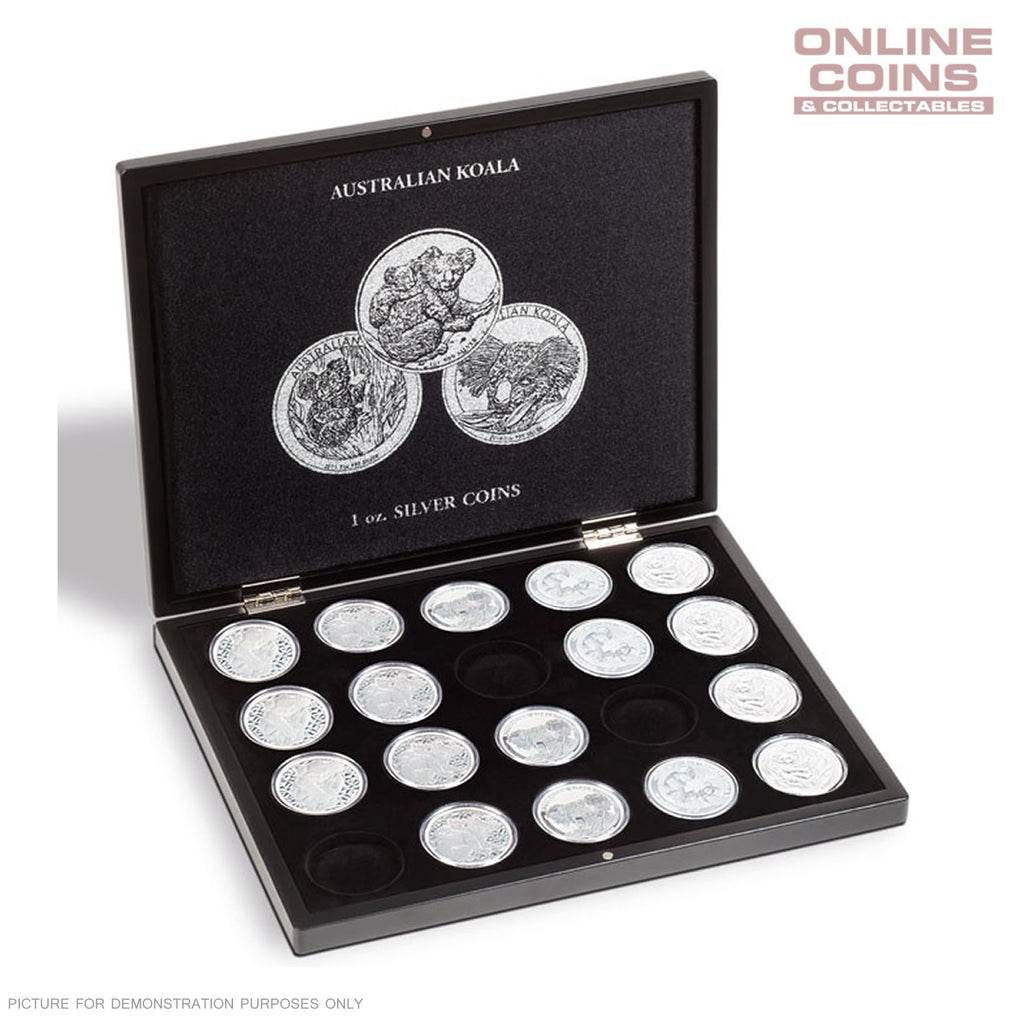 Lighthouse Presentation Case for 20 Koala Silver Coins in Capsules - Black