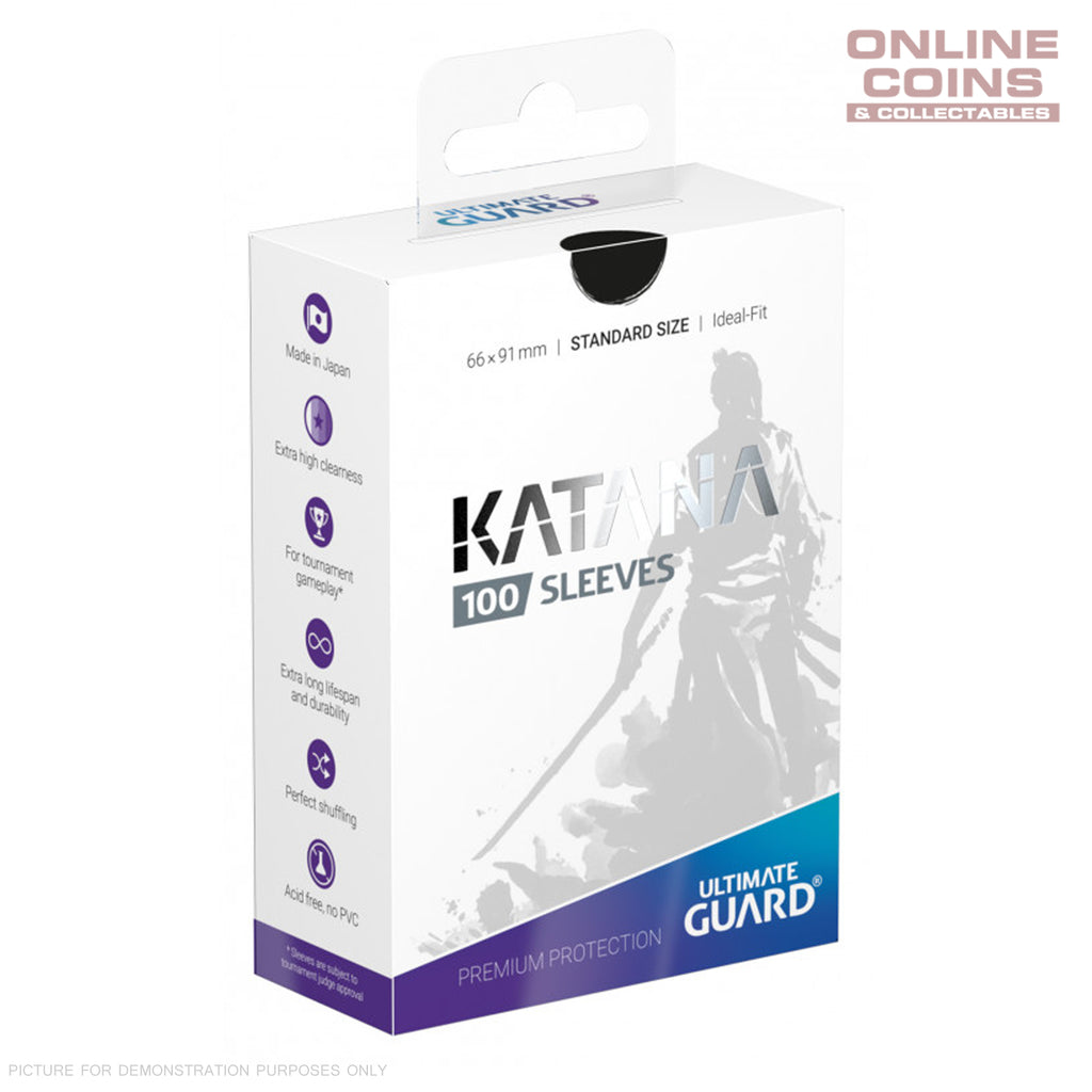 Ultimate Guard KATANA Card Sleeves - Standard Size 66 x 91 - BLACK