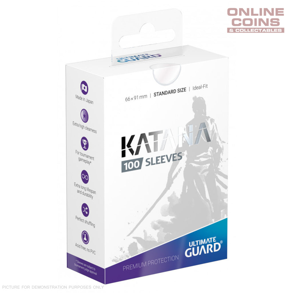 Ultimate Guard KATANA Card Sleeves - Standard Size 66 x 91 - CLEAR / TRANSPARENT