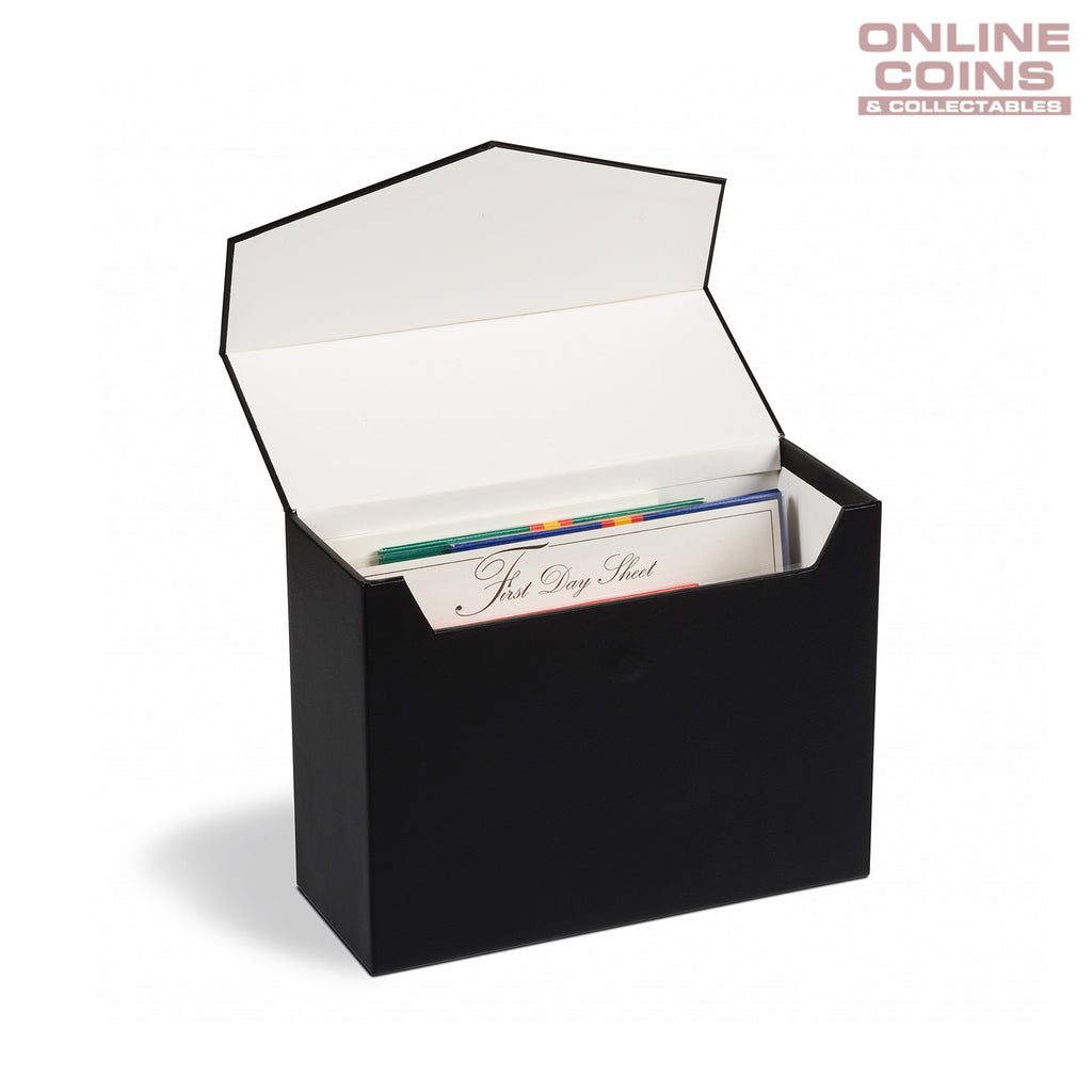 Lighthouse Mini Black Archive Box Logik A5 - Perfect for Carded Coins and Postcards