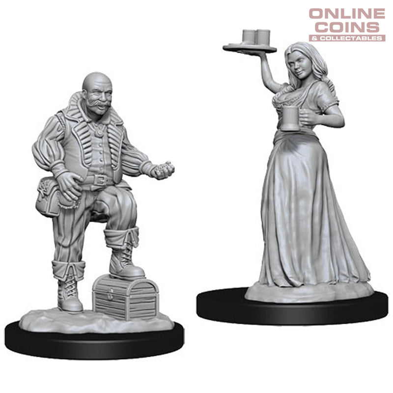 Pathfinder Deep Cuts Unpainted Miniatures  Serving Girl/Merchant - WizKids