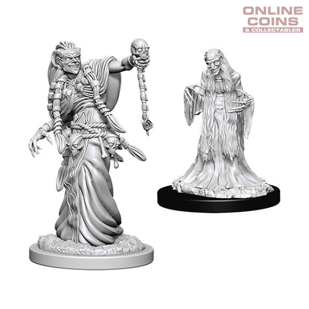 D&D Nolzurs Marvelous Unpainted Miniatures Green Hag and Night Hag - WizKids