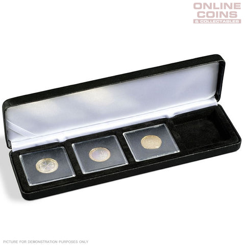 Lighthouse - Nobile Quadrum Satin Lined 4 Coin Display Case - EXCELLENT PRESENTATION
