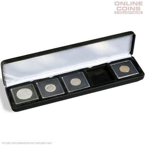 Lighthouse - Nobile Quadrum Satin Lined 5 Coin Display Case - EXCELLENT PRESENTATION