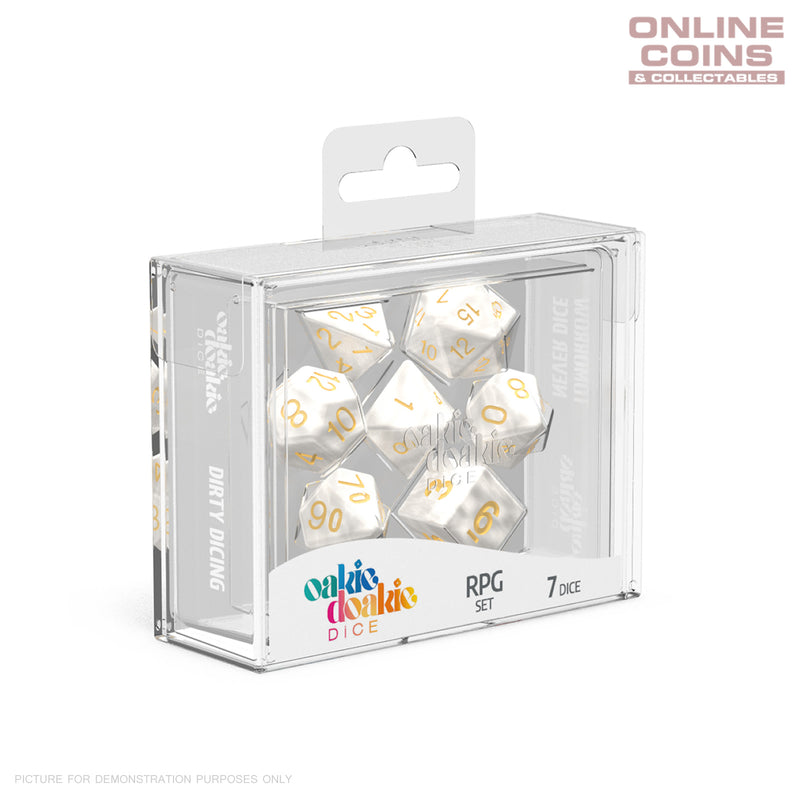 OAKIE DOAKIE DICE - RPG Set Marble White (7)