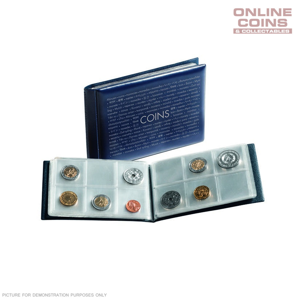 Lighthouse Numis Blue Coin Wallet - Holds 48 Coins Pockets Suitable for Australian .50c
