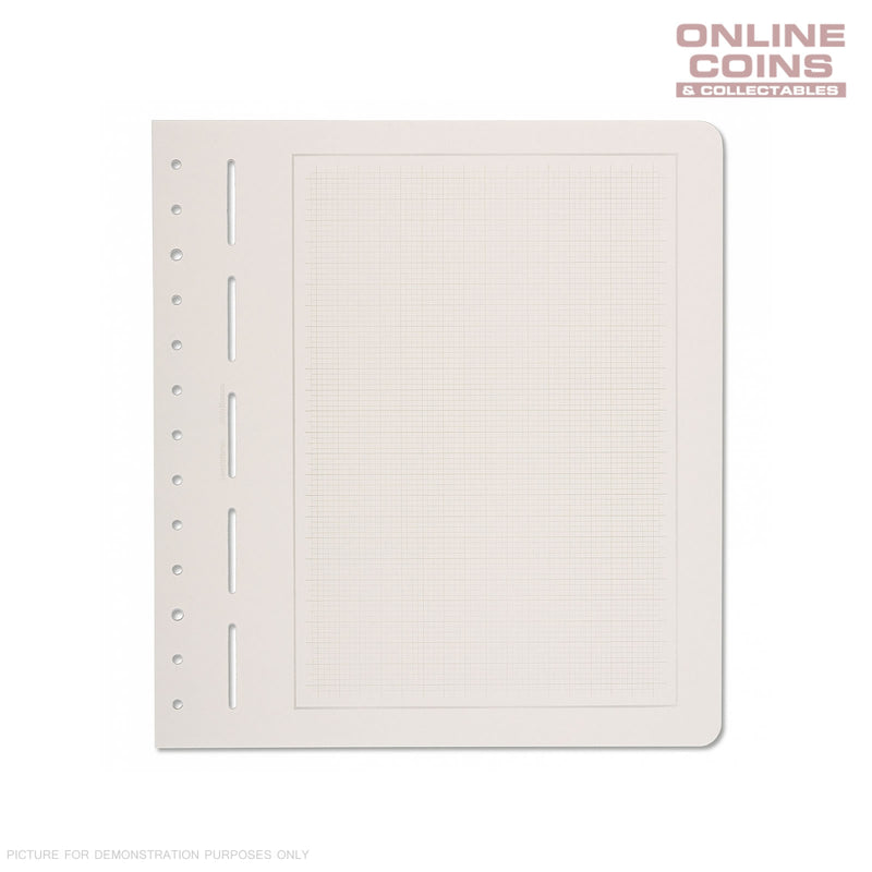 Lighthouse Blank Stamp Stock Sheets with Mellow Grey Grid and Grey Border X 10