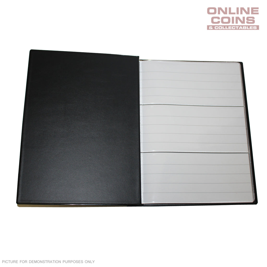 RENNIKS Banknote Album including 6 Note Album Pages - BLACK
