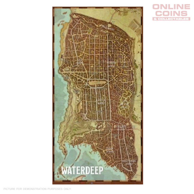 D&D Waterdeep Map Game Mat