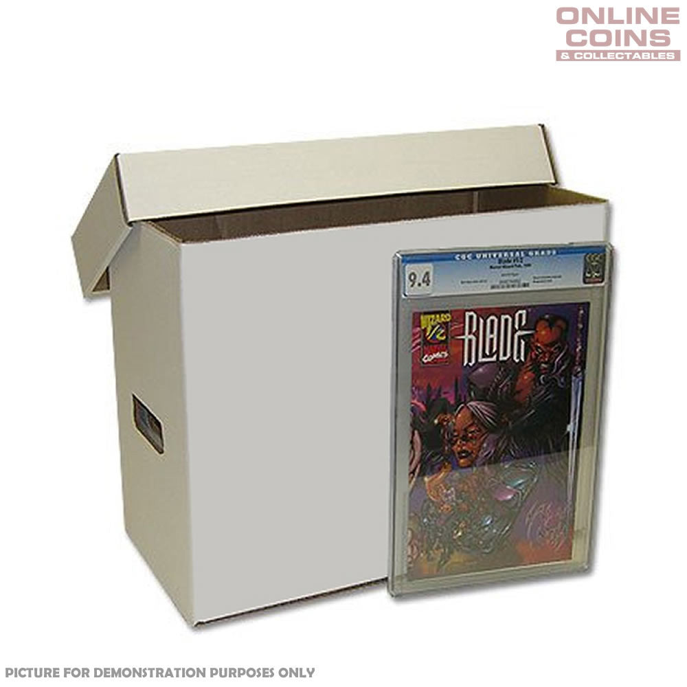 Cardboard Comic Storage Box with Lid - Regular Holds up to 200 Comics