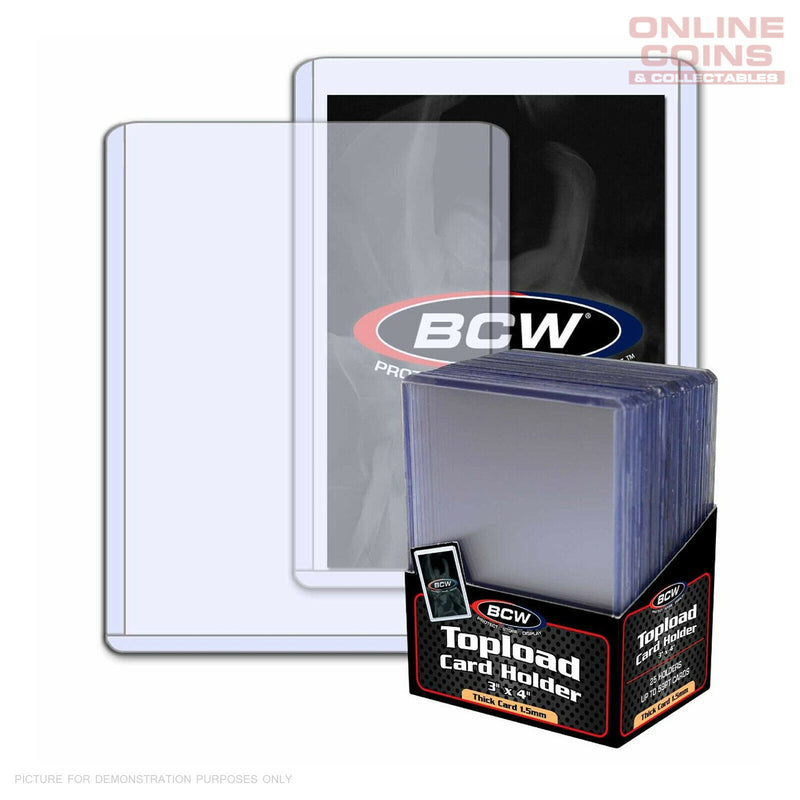 BCW Thick Toploader Sports Card or CCG Card Top Loader Holder 59pt - 25 pack