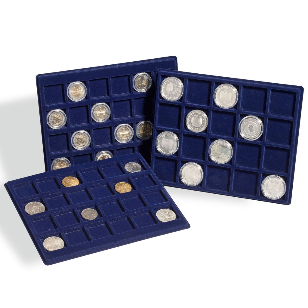 Lighthouse Coin Presentation Trays x 2 TABSQ50B Small  - 12 x 50mm Compartments