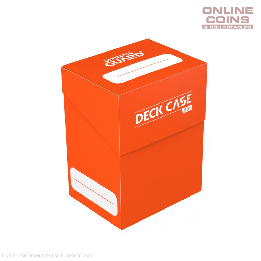 Deck Box Ultimate Guard Deck Case 80+ Standard Size ORANGE