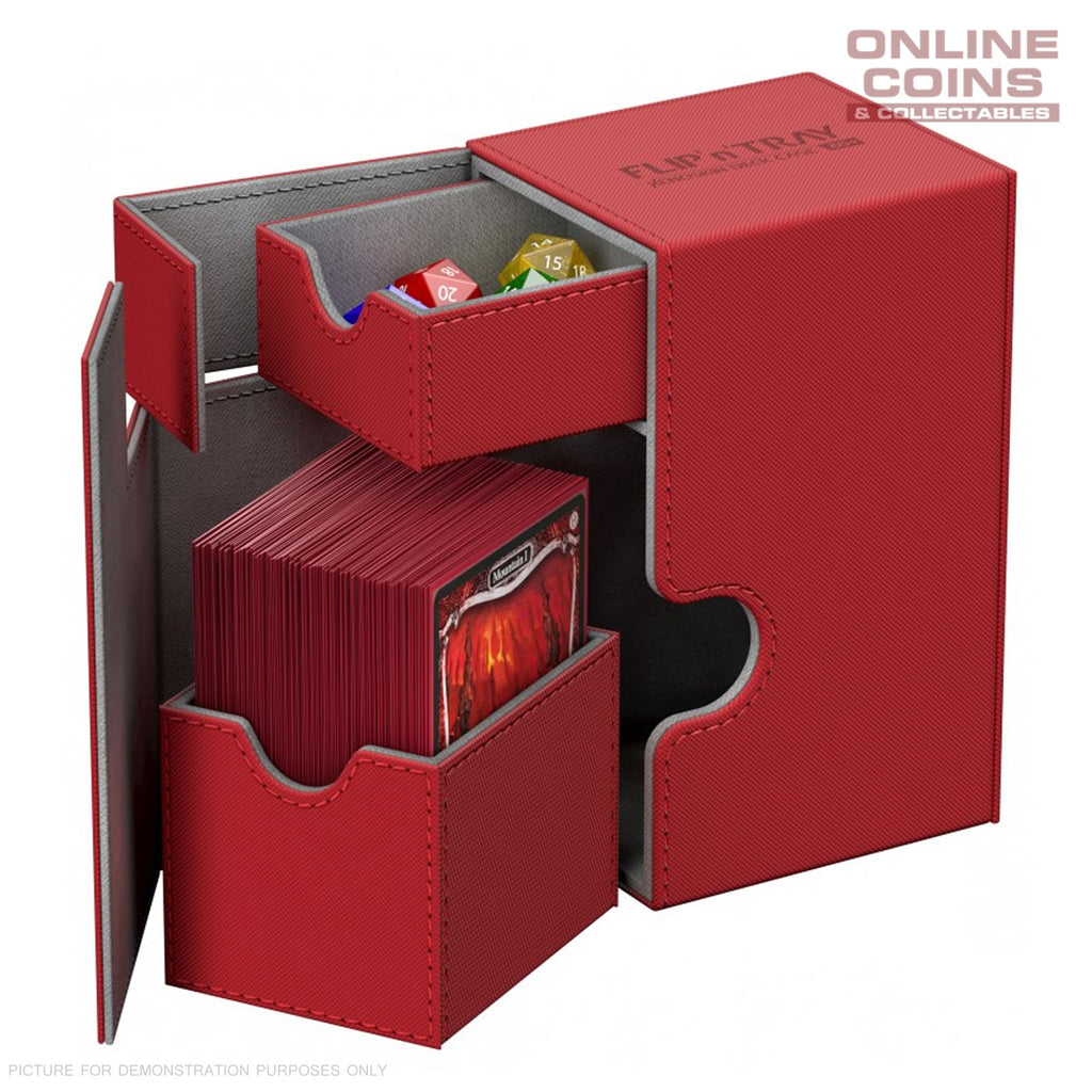 Ultimate Guard FLIP'n'TRAY XENOSKIN™ DECK CASE 80+ RED