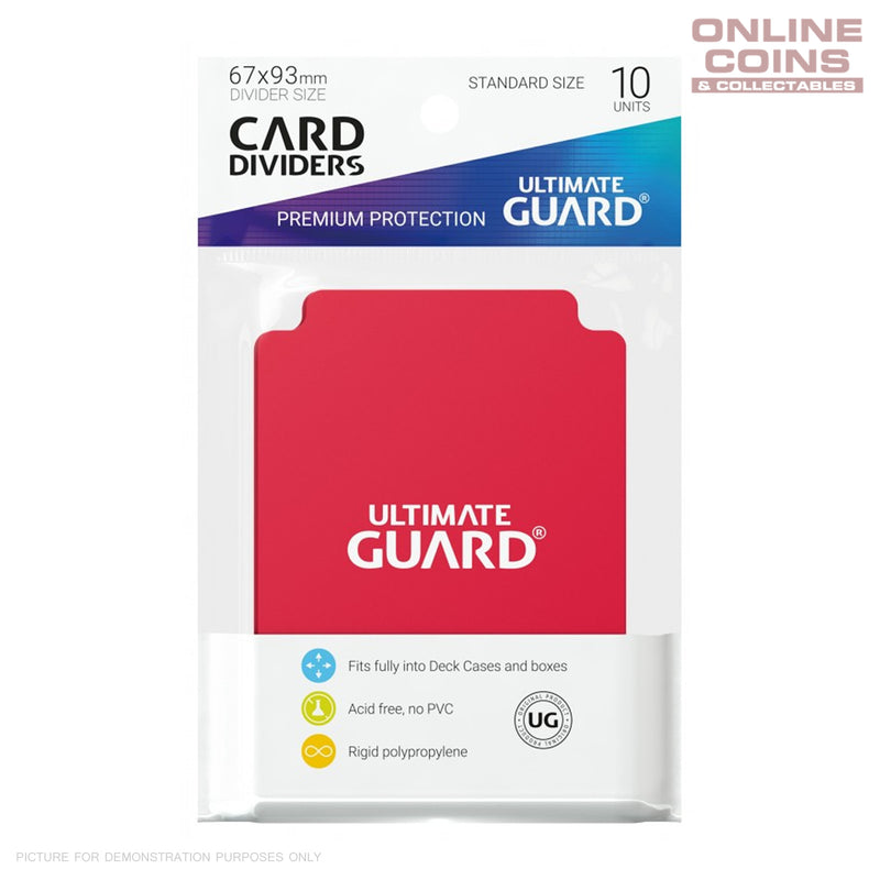 Ultimate Guard Trading Card Storage Dividers Pack of 10 - RED