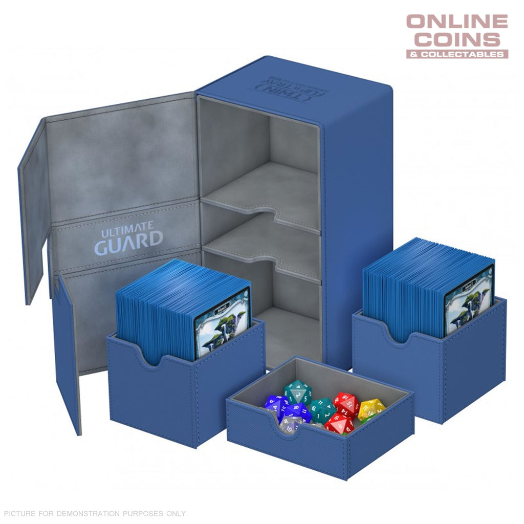 Ultimate Guard TWIN FLIP'n'TRAY XENOSKIN™ DECK CASE 200+ BLUE