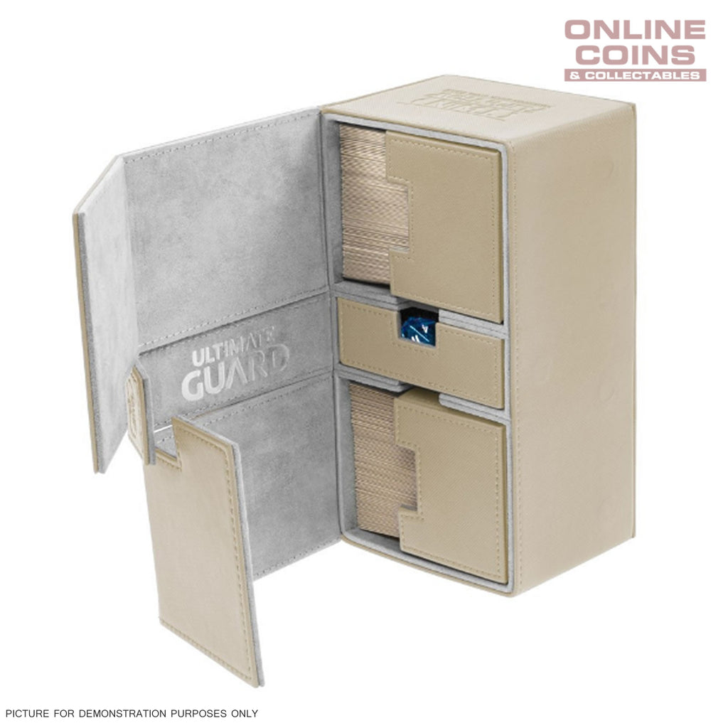 Ultimate Guard TWIN FLIP'n'TRAY XENOSKIN™ DECK CASE 200+ SAND