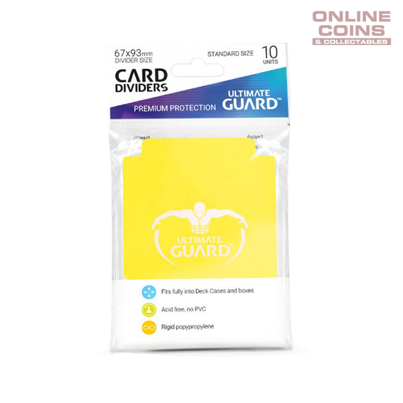 Ultimate Guard Trading Card Storage Dividers Pack of 10 - YELLOW