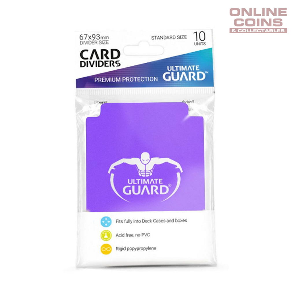Ultimate Guard Trading Card Storage Dividers Pack of 10 - PURPLE