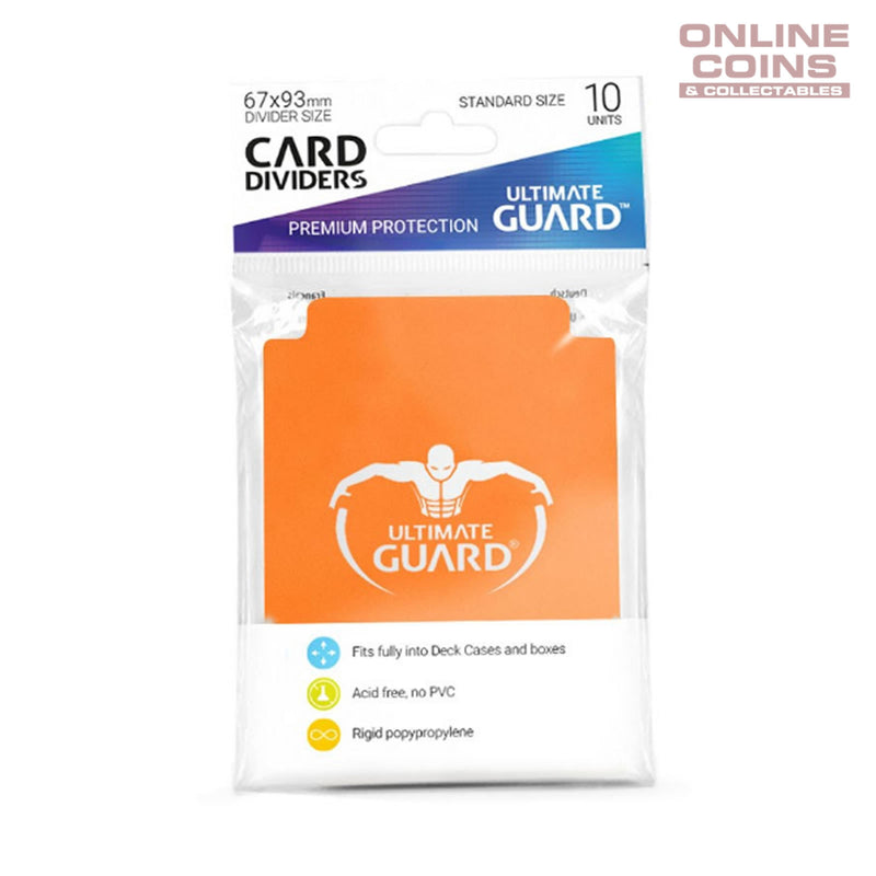 Ultimate Guard Trading Card Storage Dividers Pack of 10 - ORANGE