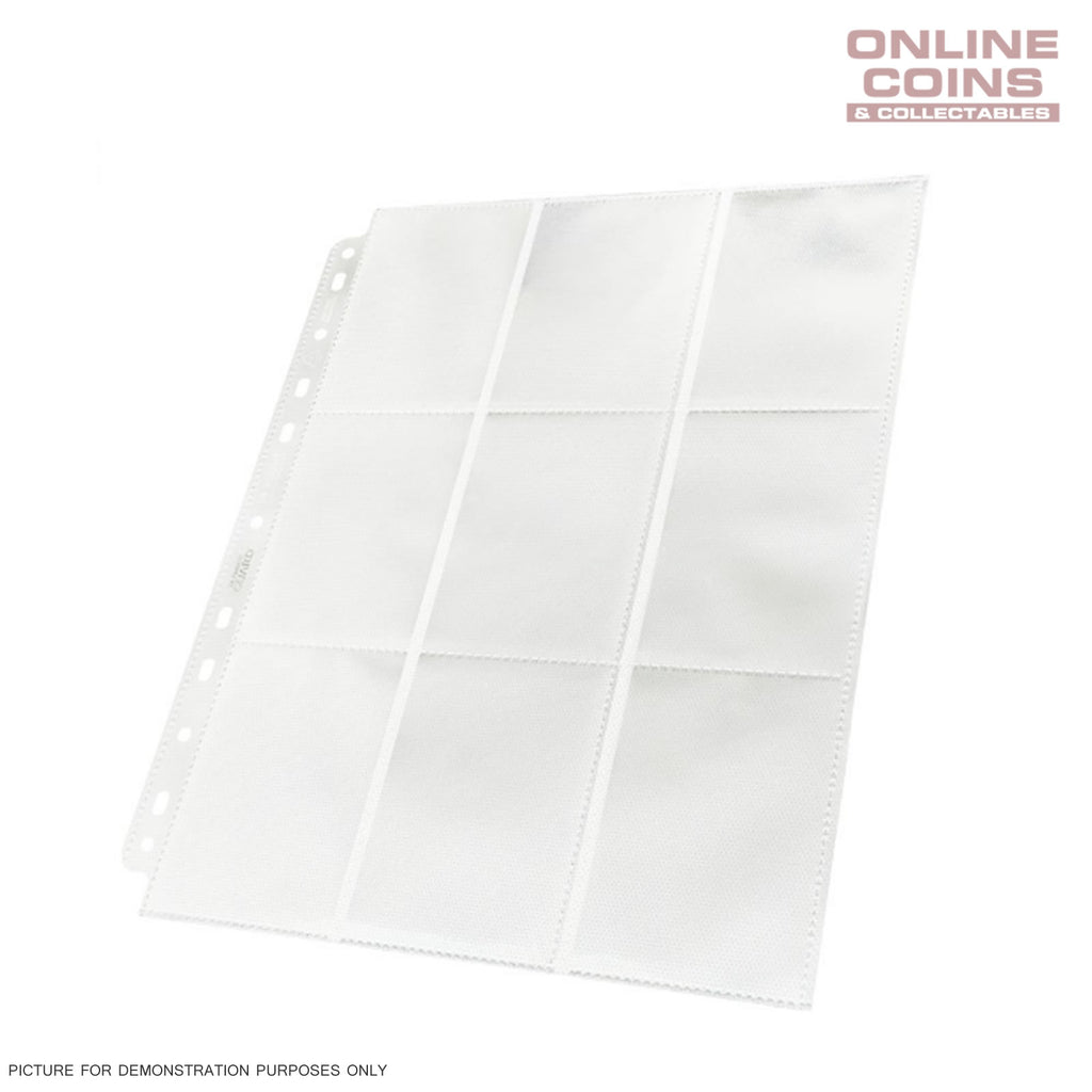 Ultimate Guard 18-Pocket Side-Loading Trading Card Pages - WHITE TRAY OF 50