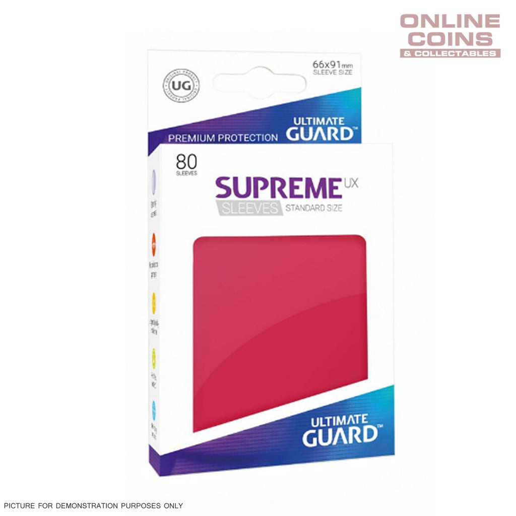 Ultimate Guard SUPREME UX High Quality Card Sleeves - RED