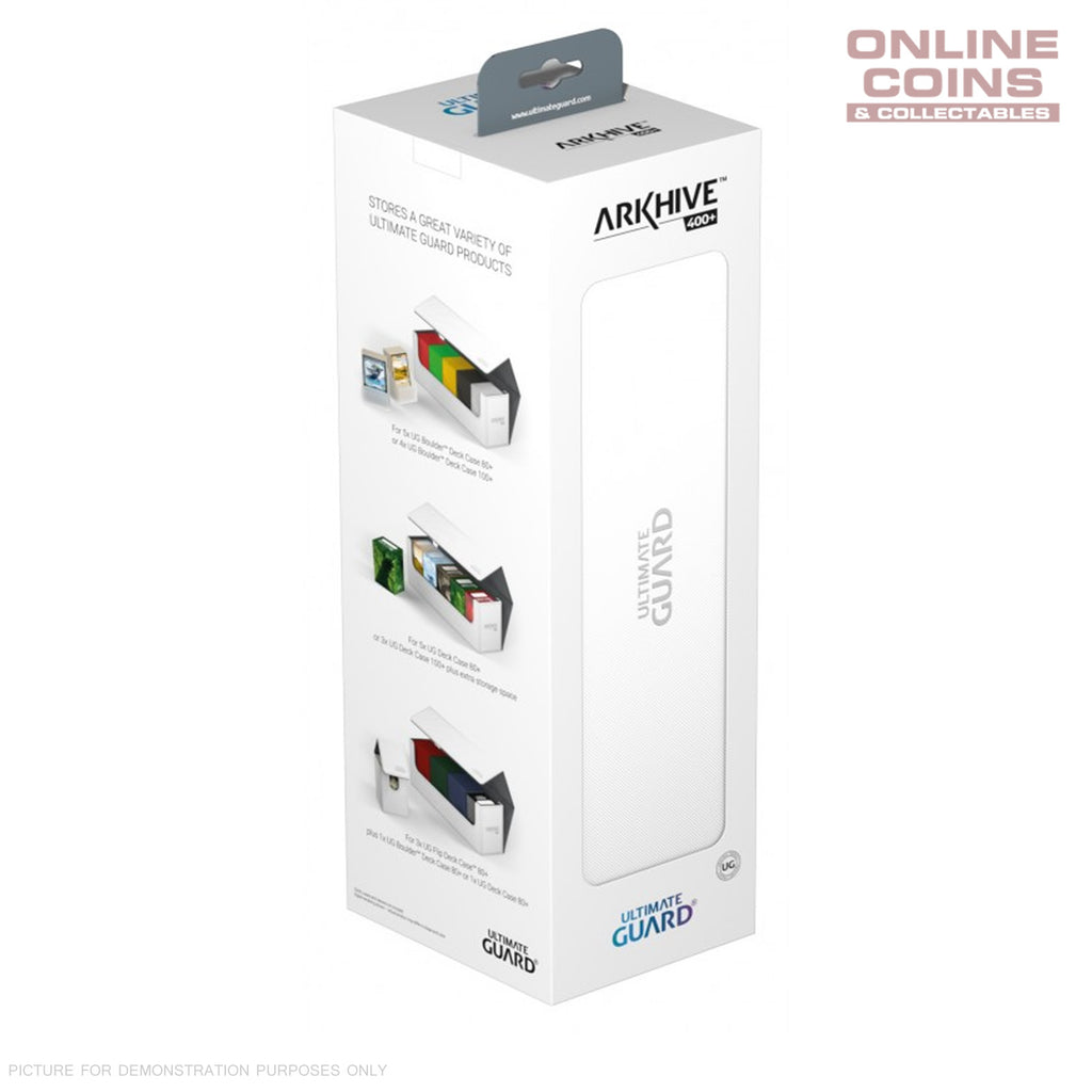 Ultimate Guard ArkHive™ 400+ White Trading Card Storage Box