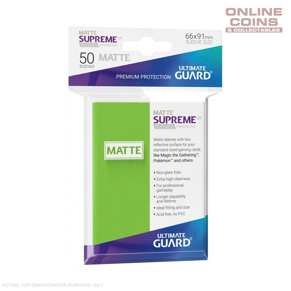 Ultimate Guard SUPREME UX MATTE Standard Card Sleeves - LIGHT GREEN - Pack of 50