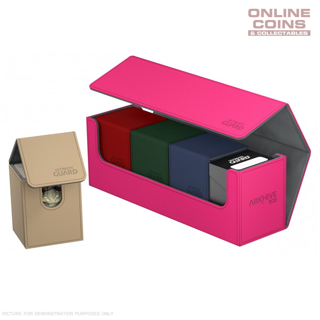 Ultimate Guard ArkHive™ 400+ Pink Trading Card Storage Box
