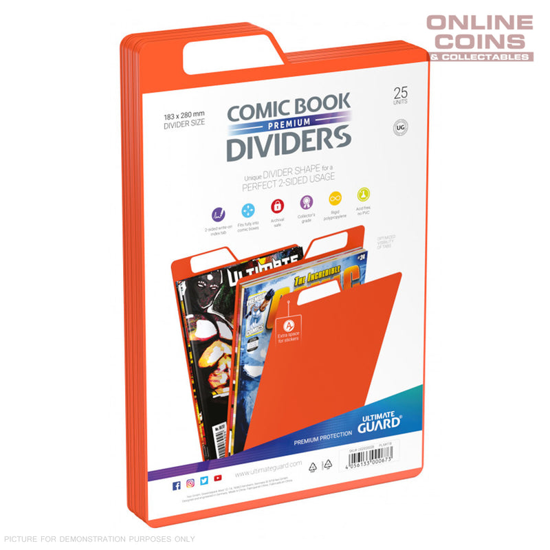 Ultimate Guard PREMIUM Comic Book Dividers - ORANGE