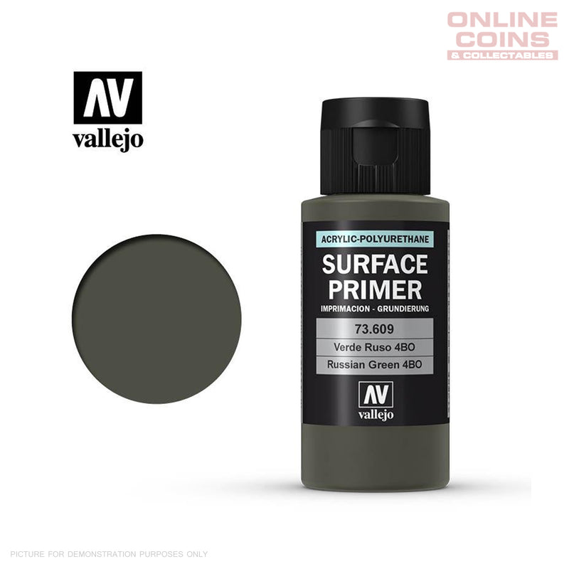 Vallejo 73.609 Surface Primer - RUSSIAN GREEN 60ml Bottle